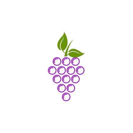 Grape fruit icon logo design vector template 写真素材 - 151458362