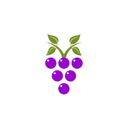 Grape fruit icon logo design vector template