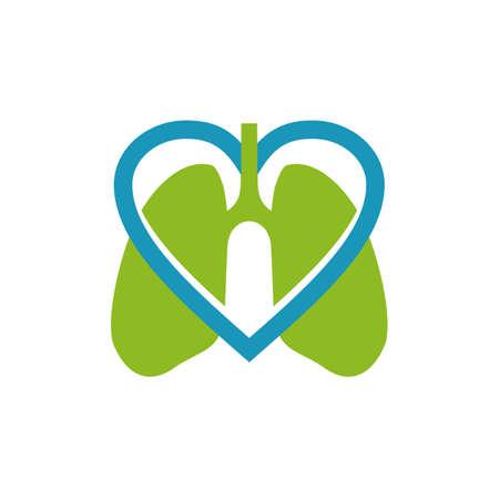 Lungs logo icon symbol design vector template