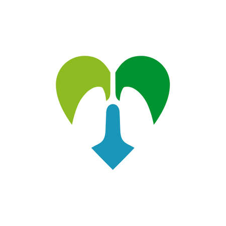 Lungs logo icon symbol design vector template 写真素材 - 151458420