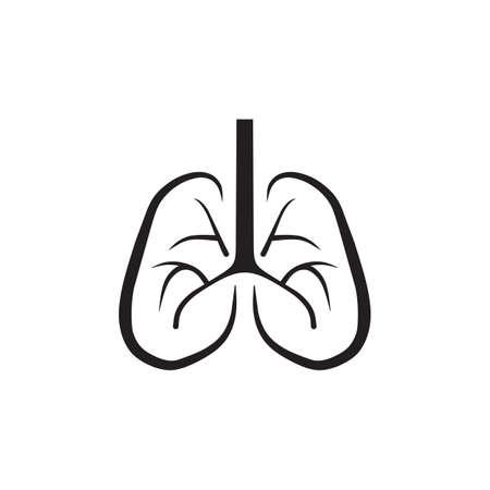 Lungs logo icon symbol design vector template 写真素材 - 151458421