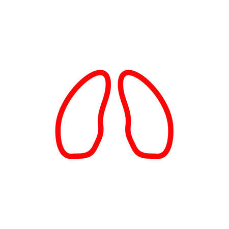 Lungs logo icon symbol design vector template 写真素材 - 151458422