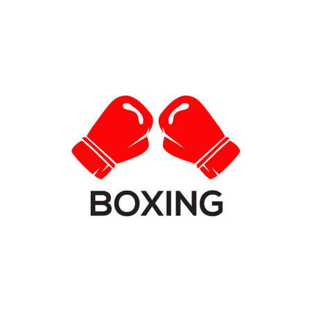 Boxing gloves logo icon design vector template 写真素材 - 151458580
