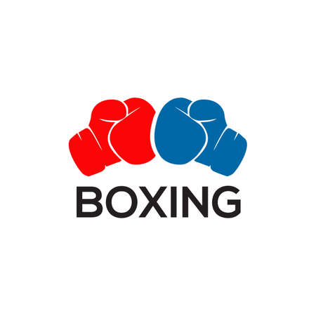 Boxing gloves logo icon design vector template 写真素材 - 151458585