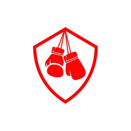 Boxing gloves logo icon design vector template