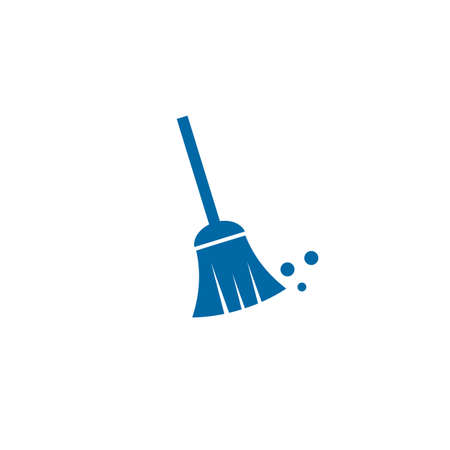 Broom logo design icon vector template with white background 写真素材 - 151322486