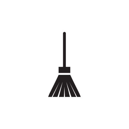 Broom logo design icon vector template with white background  イラスト・ベクター素材