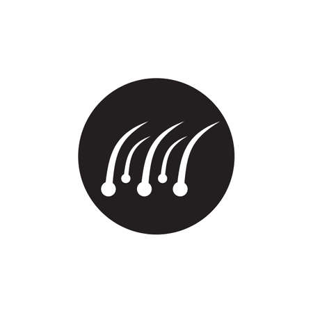 Hair treatment icon logo design vector template