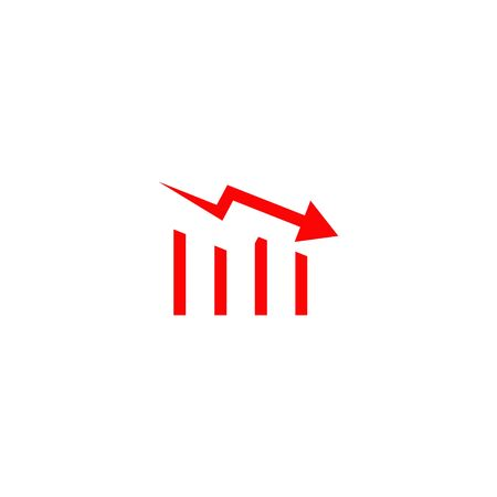 Down trend chart icon design vector template Vektoros illusztráció