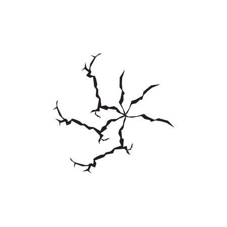 Crack on surface icon design vector template Vector Illustratie