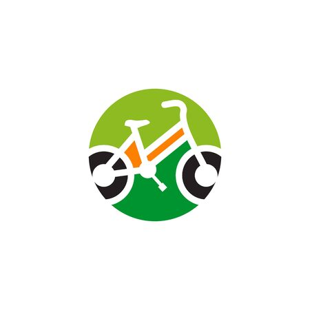 Bicycle sportman icon  design vector template