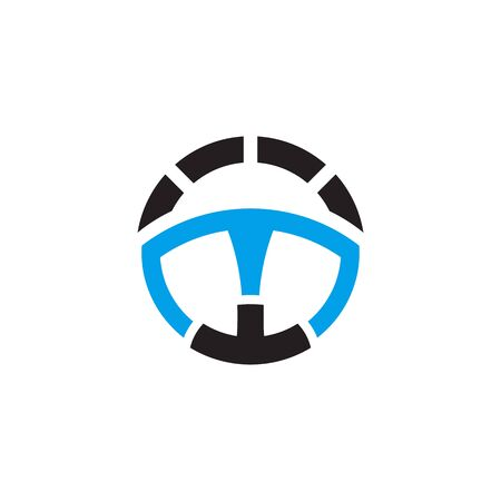 Car steering icon logo design vector template Illustration
