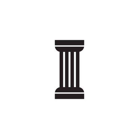 Pillar icon logo symbol design vector template Logo