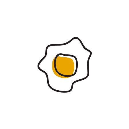 Scrambled egg logo design vector template