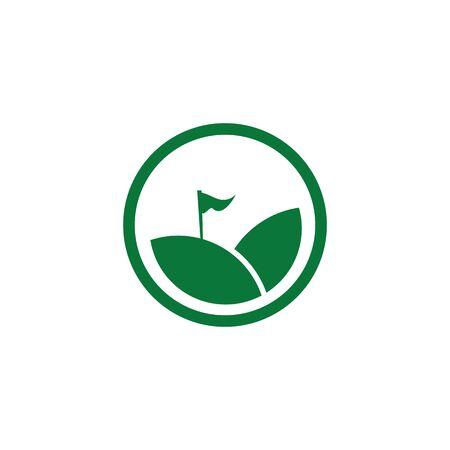 Golf sport icon logo design vector template Illusztráció