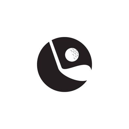 Golf sport icon logo design vector template