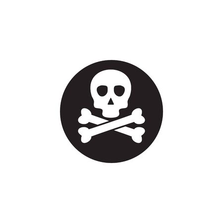 Poison symbol lgoo design with using skull and cross bones icon vector template