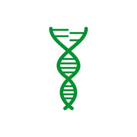DNA Molecule logo icon design vector template