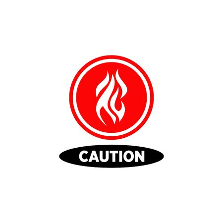 Symbol and logo about warning of highly flammable material template design Illustration