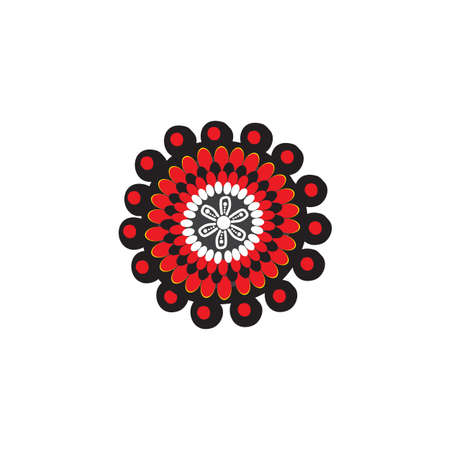 art dots painting icon logo design vector template