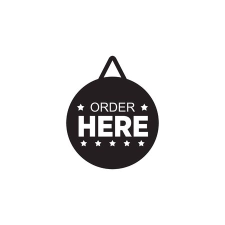 Order sign logo design vector template
