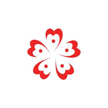 Sakura flower icon logo design vector template