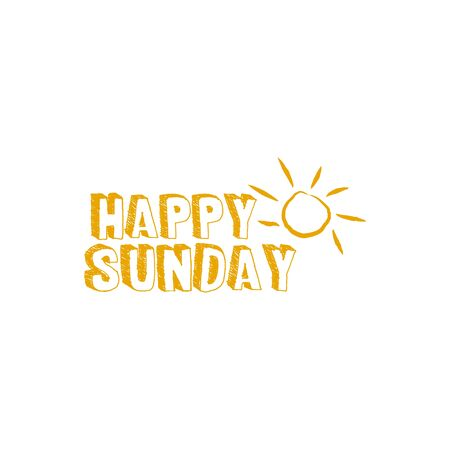 Happy sunday greeting design vector template