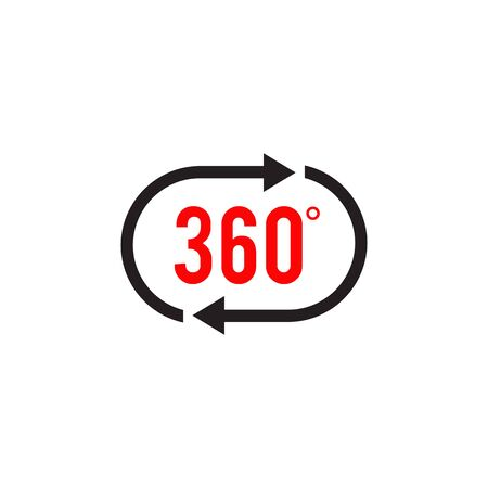 360 degree icon view logo design vector template