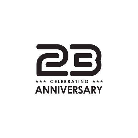 23rd anniversary logo design vector template