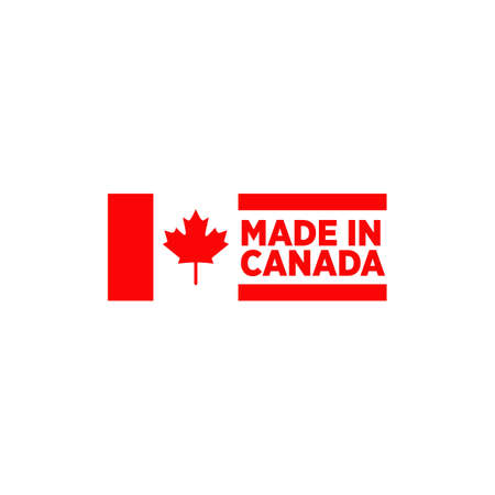 Emblem logo of Made in Canada product design label