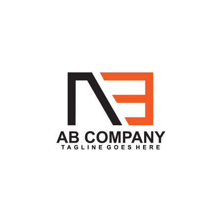 AB Letter initial logo design vector template