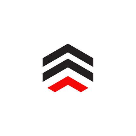 Arrow icon logo design vector template