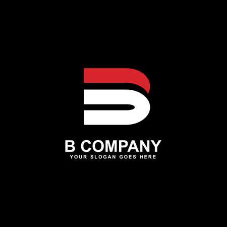 B letter initial logo design vector template 写真素材 - 151811978