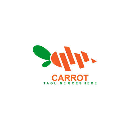 Carrot logo icon design vector template 写真素材 - 151811979