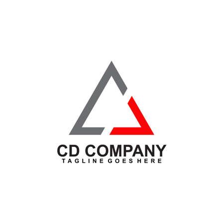 CD letter initial logo design vector template  イラスト・ベクター素材