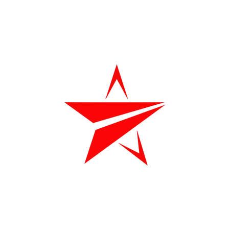 Red star logo design vector template