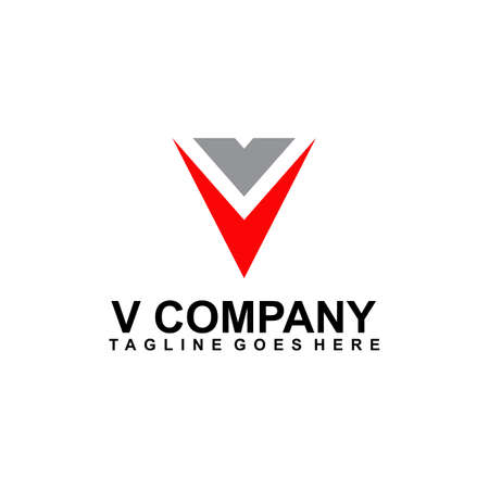 V letter initial logo design vector template