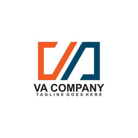 VA letter initial logo design vector template