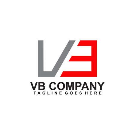 VB letter initial logo design vector template
