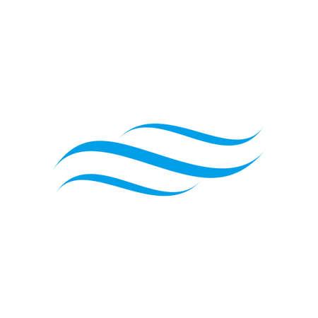 Wave icon logo design vector template  イラスト・ベクター素材