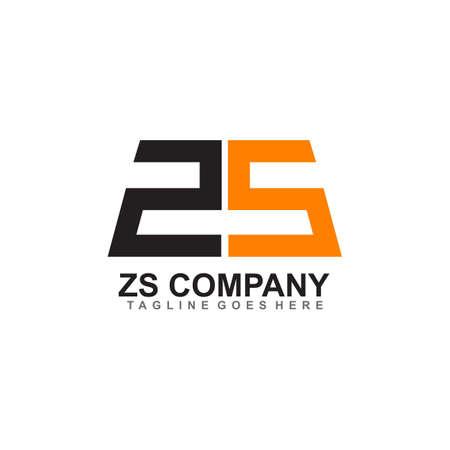 ZS letter initial logo design vector tempalate