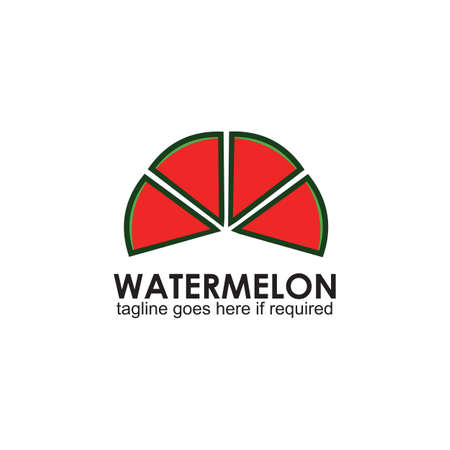 Watermelon fruit logo design vector template