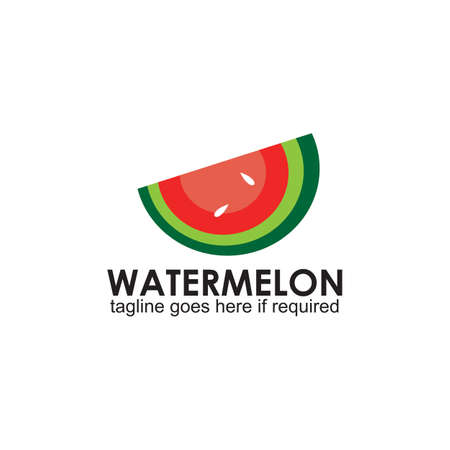 Watermelon fruit logo design vector template 写真素材 - 153411173