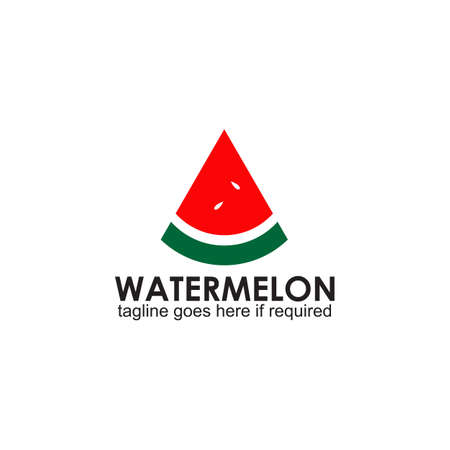 Watermelon fruit logo design vector template 写真素材 - 153421661