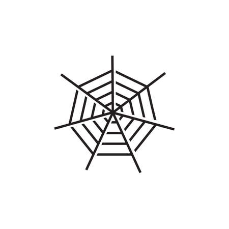 Spiderweb icon logo design vector template 写真素材 - 154084425