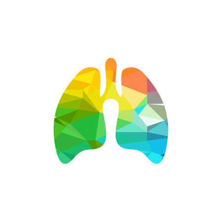 Lung medical logo design vector template  イラスト・ベクター素材