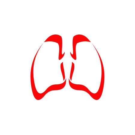 Lung medical logo design vector template 写真素材 - 154204275