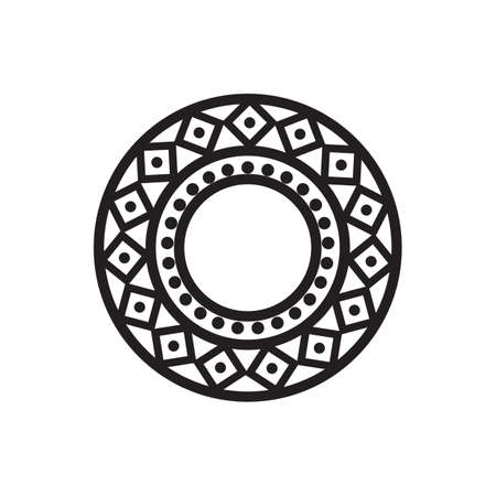 Mandala design for Henna, Mehndi, Tatoo, Decoration and ornament in black circular pattern