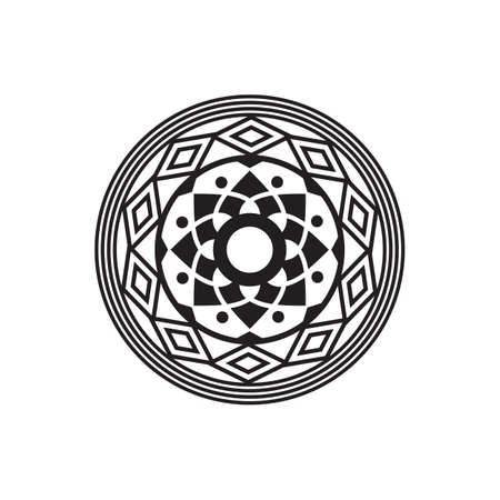 Mandala design for Henna, Mehndi, Tatoo, Decoration and ornament in black circular pattern 写真素材 - 154204311