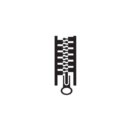Zipper for clothing logo design vector template